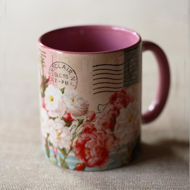 Rose Print Mug