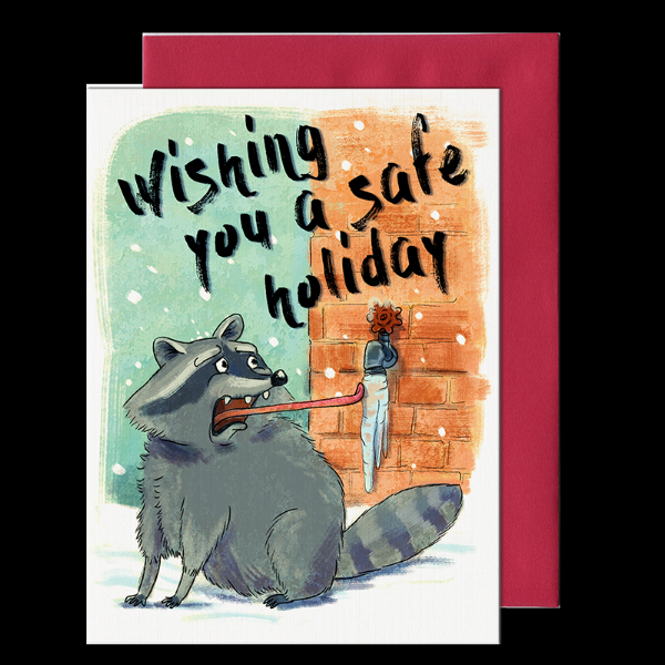 A new holiday greeting card from my 2018 collection.
