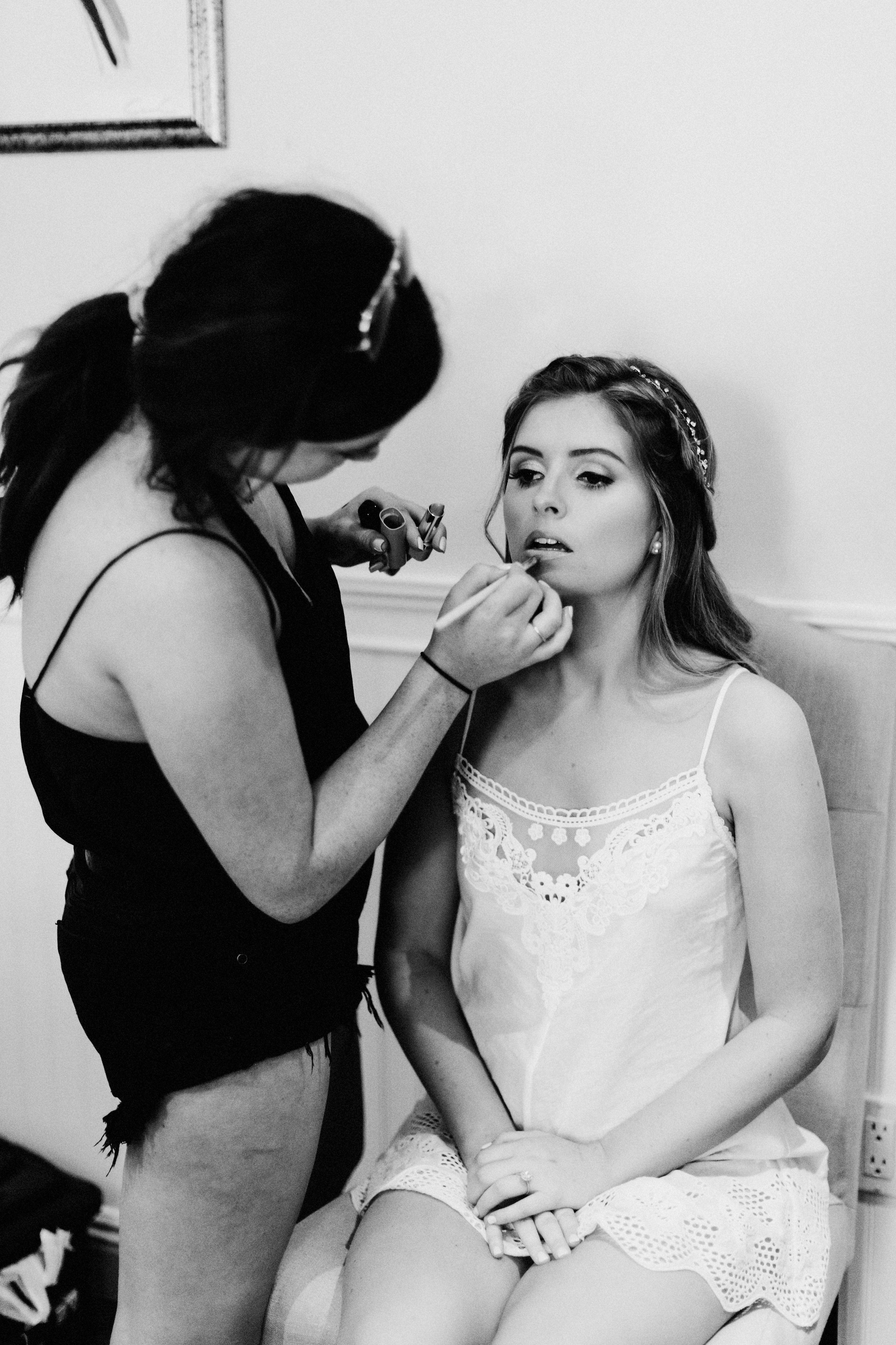 Final touch ups with Hailey