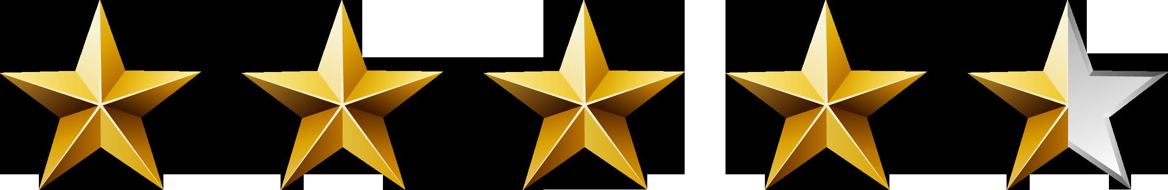 4.5-5 Star Ratings