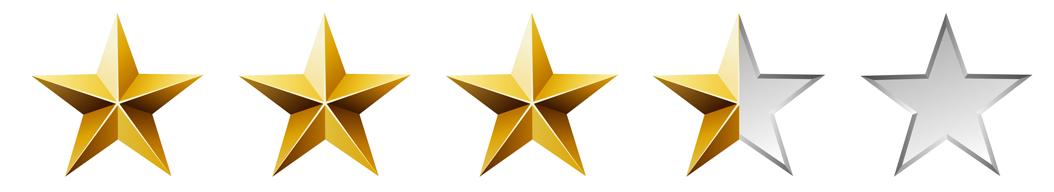 3.5-4 Stars