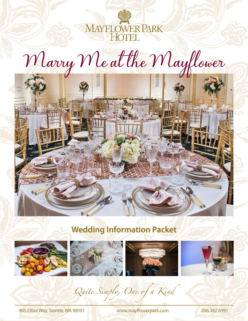 Mayflower Park Hotel wedding flyer