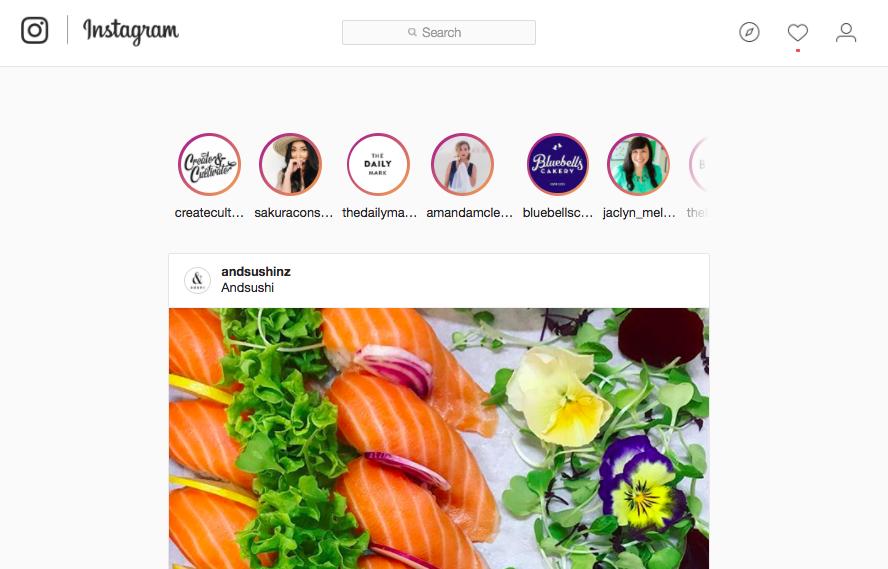 Instagram Stories on Desktop