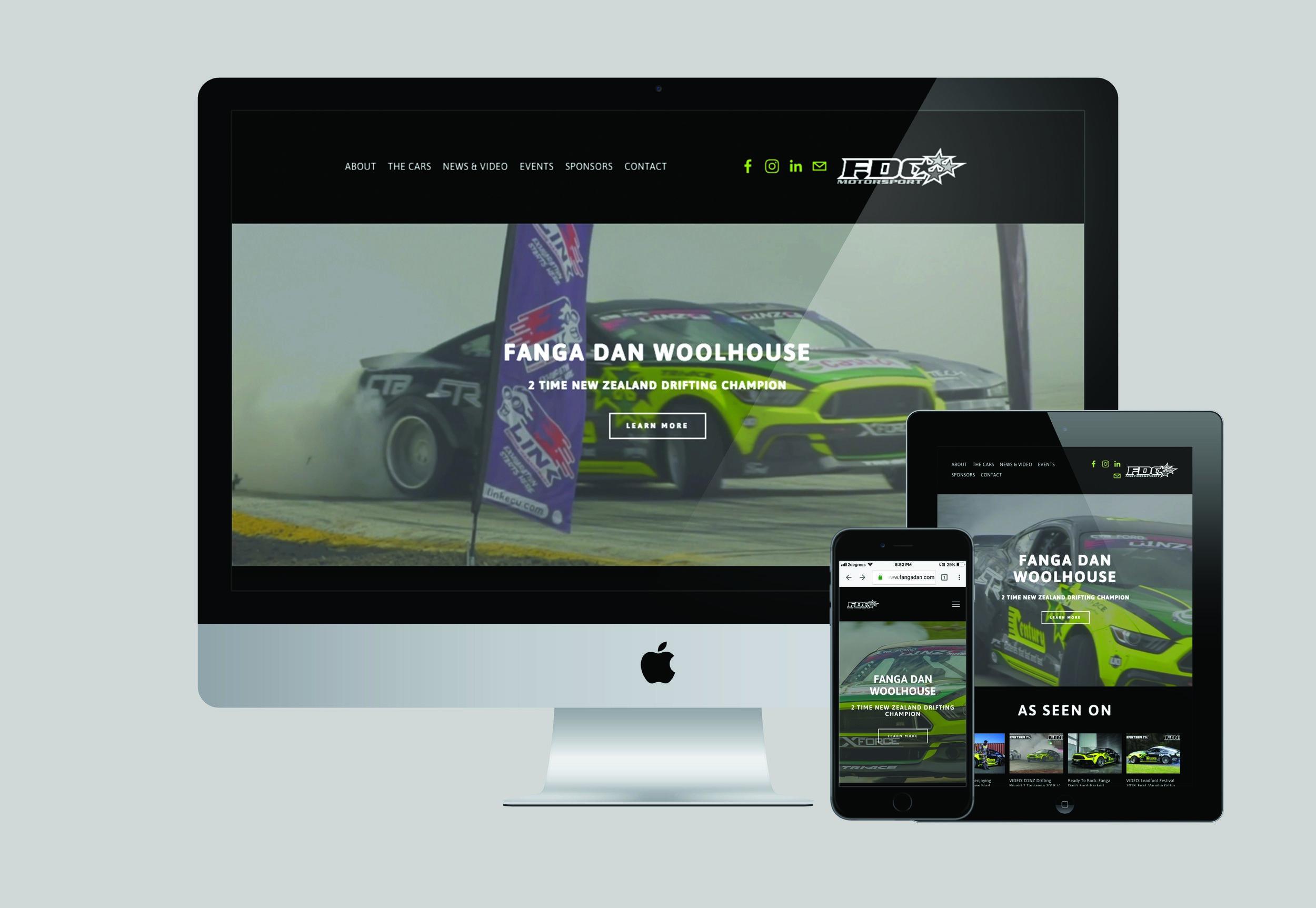 Fanga Dan Woolhouse Website Design | Honey Pot Digital