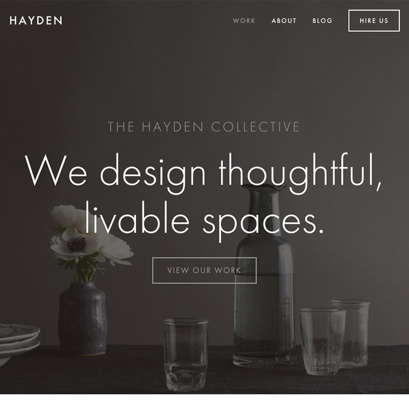 Hayden Squarespace template | Honey Pot Digital