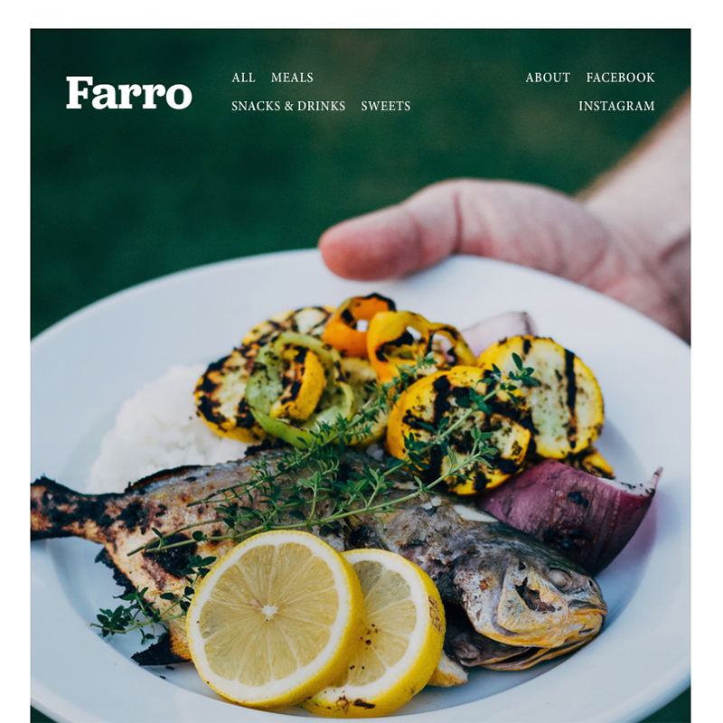 Farro Squarespace template | Honey pot Digital
