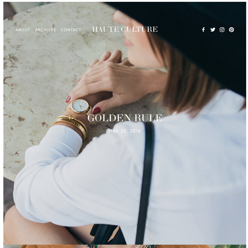 Haute Squarespace template | Honey Pot Digital