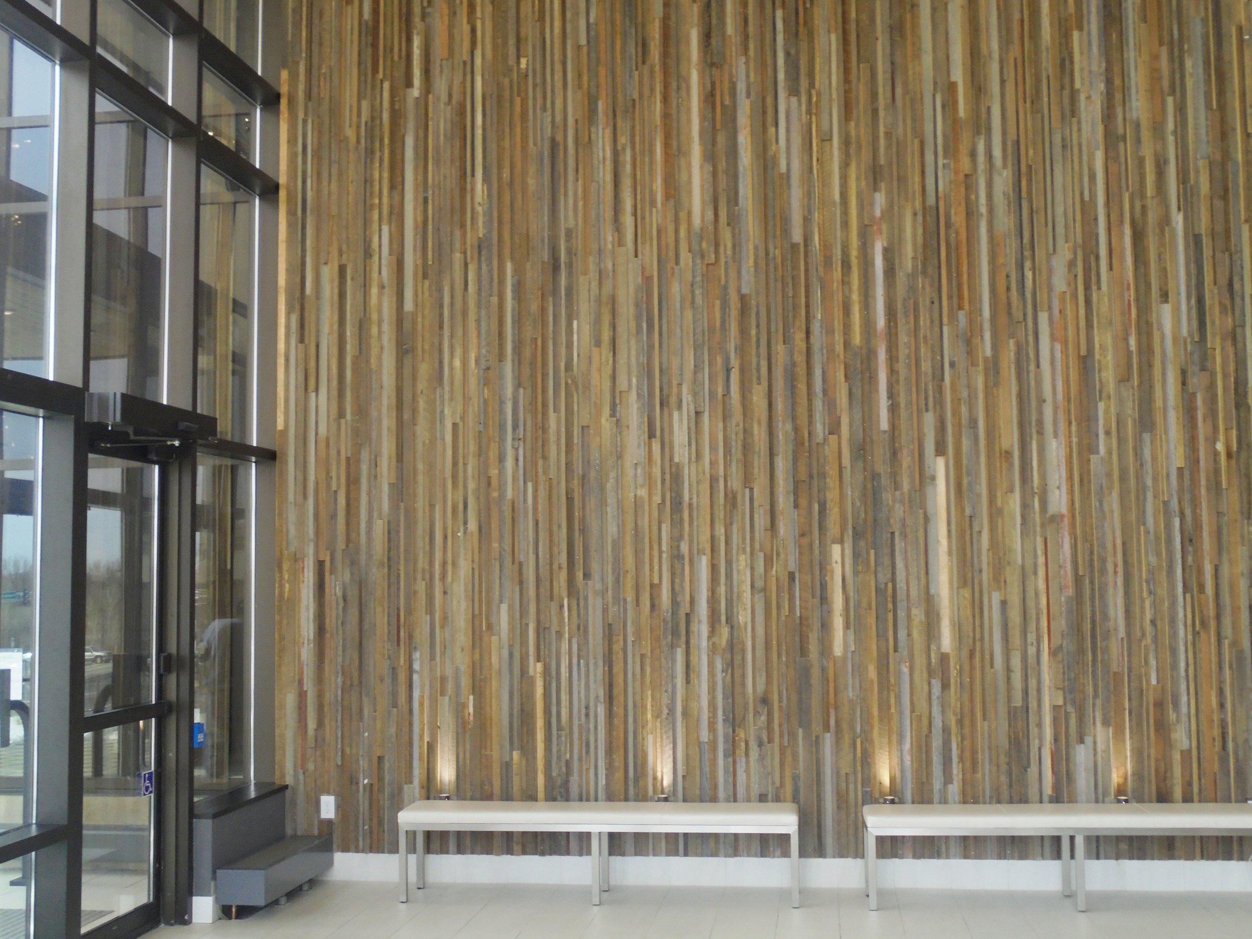 High Rise Apartment Lobby Feature Wall