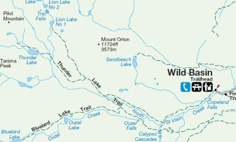 Map of Thunder Lake