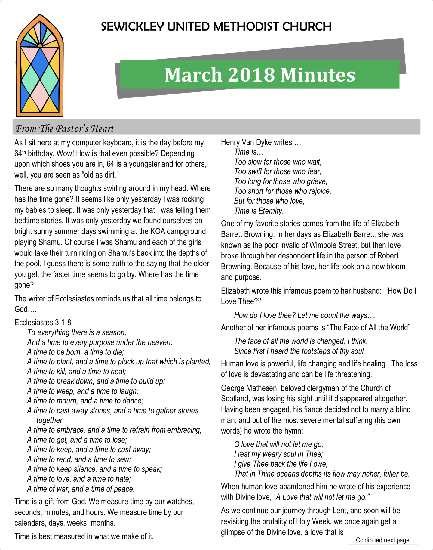 March 2018 Minutes