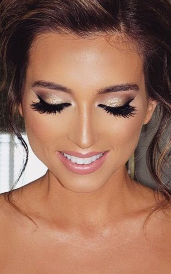 Soft glam is the makeup look i will be going for. Pic via Pinterest.