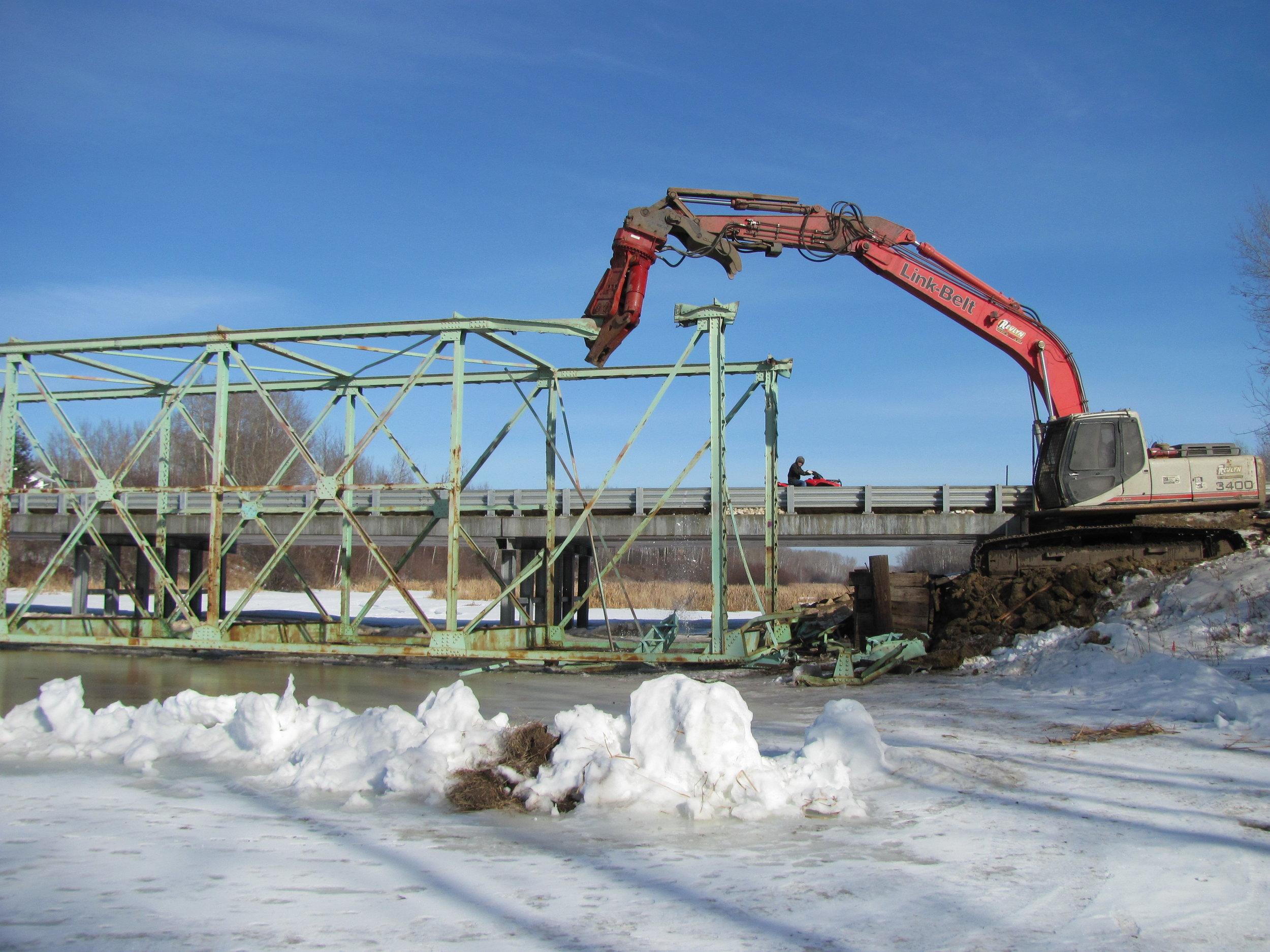 Lac La Biche Steel Bridge Bridge Demolition .jpg