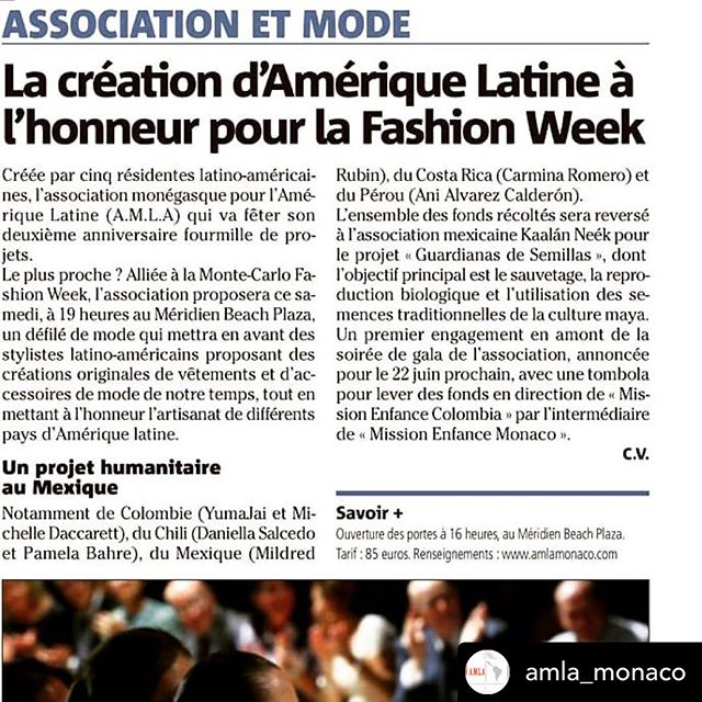 Can't wait to present the work of our artisans in the @presente_ancestral  show for the Monte-Carlo Fashion Week ⌛️ @withrepost • @amla_monaco #Ecuador #proecuador