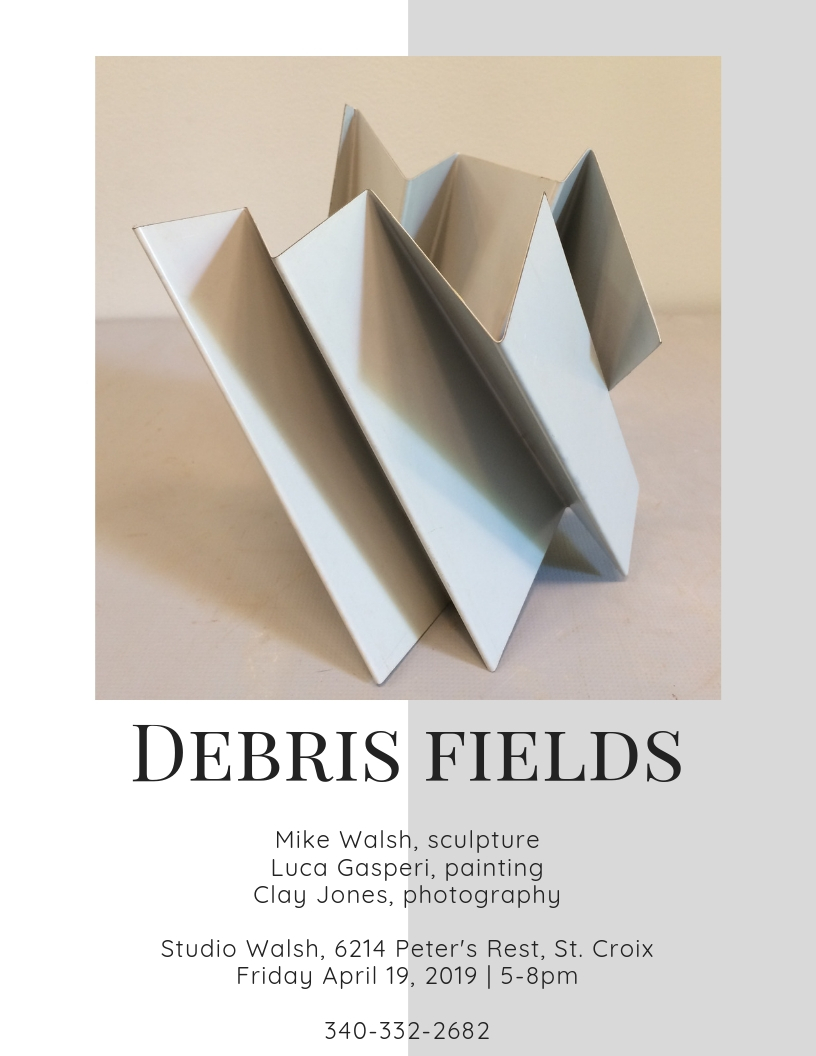 "Art Opening: ""Debris Fields"" at STUDIO WALSH - Friday, April 19, 2019 at STUDIO WALSH, 5-8pm"
