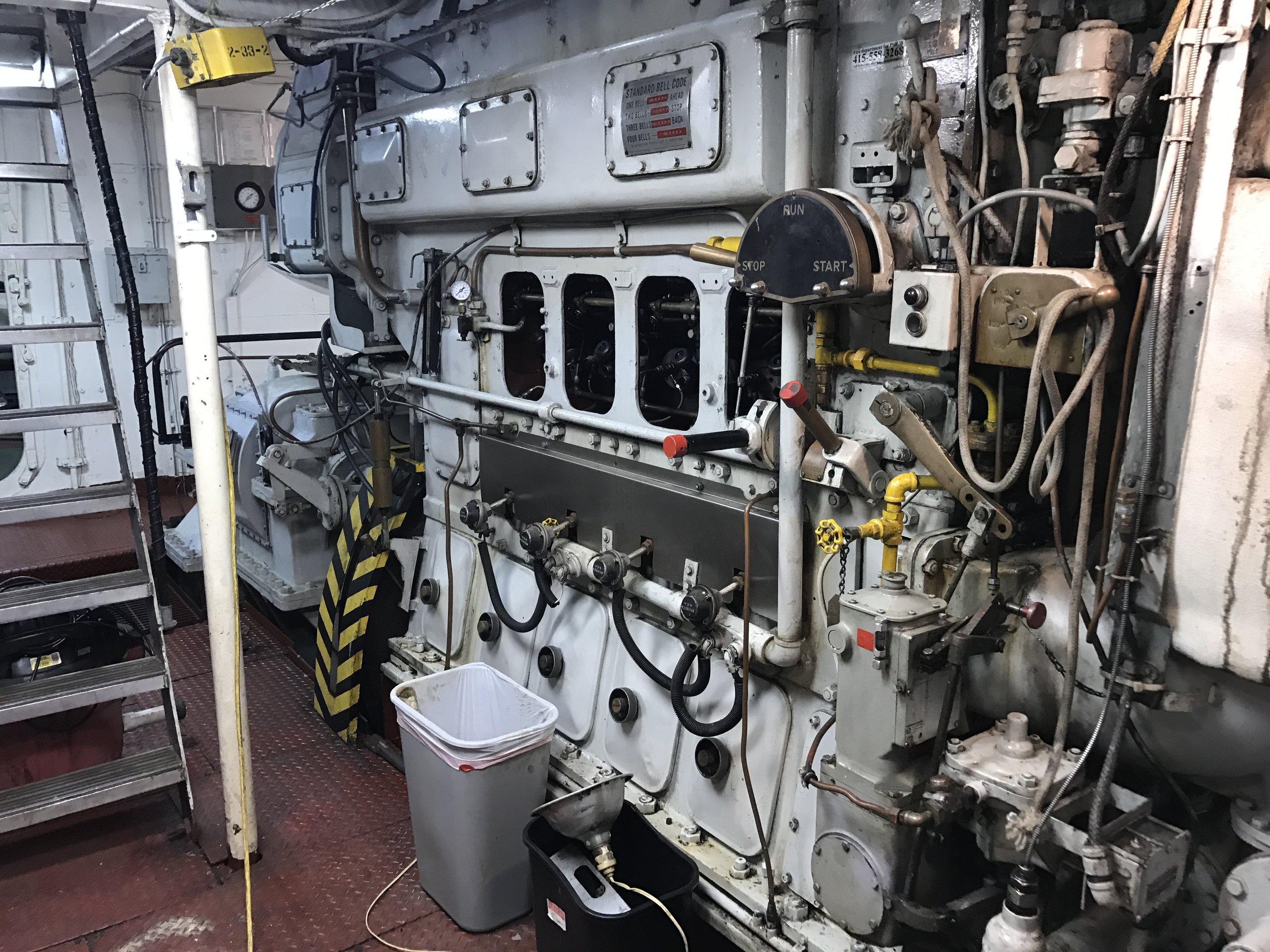 Port main engine.Summer of 2017.