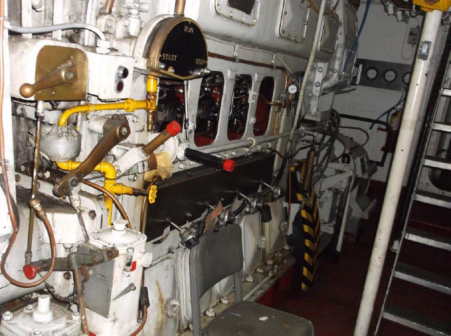 Starboard main engine. Summer of 2017.