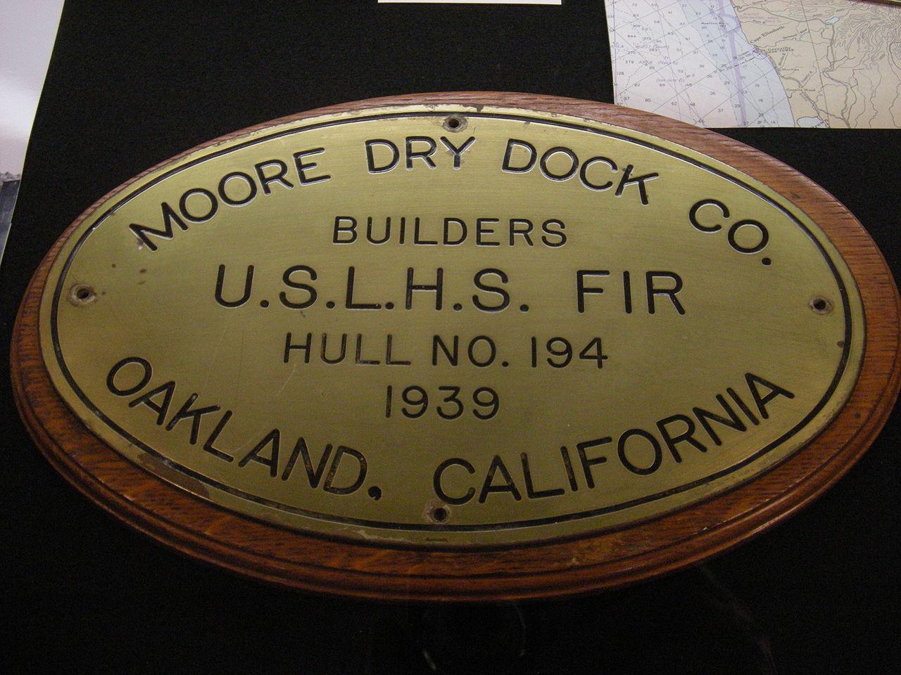 Original builder's plaque