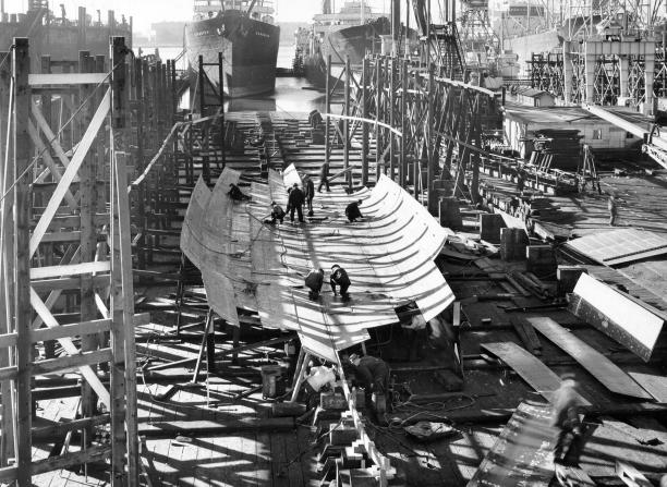 Under Construction at Moore Drydock, Oakland California