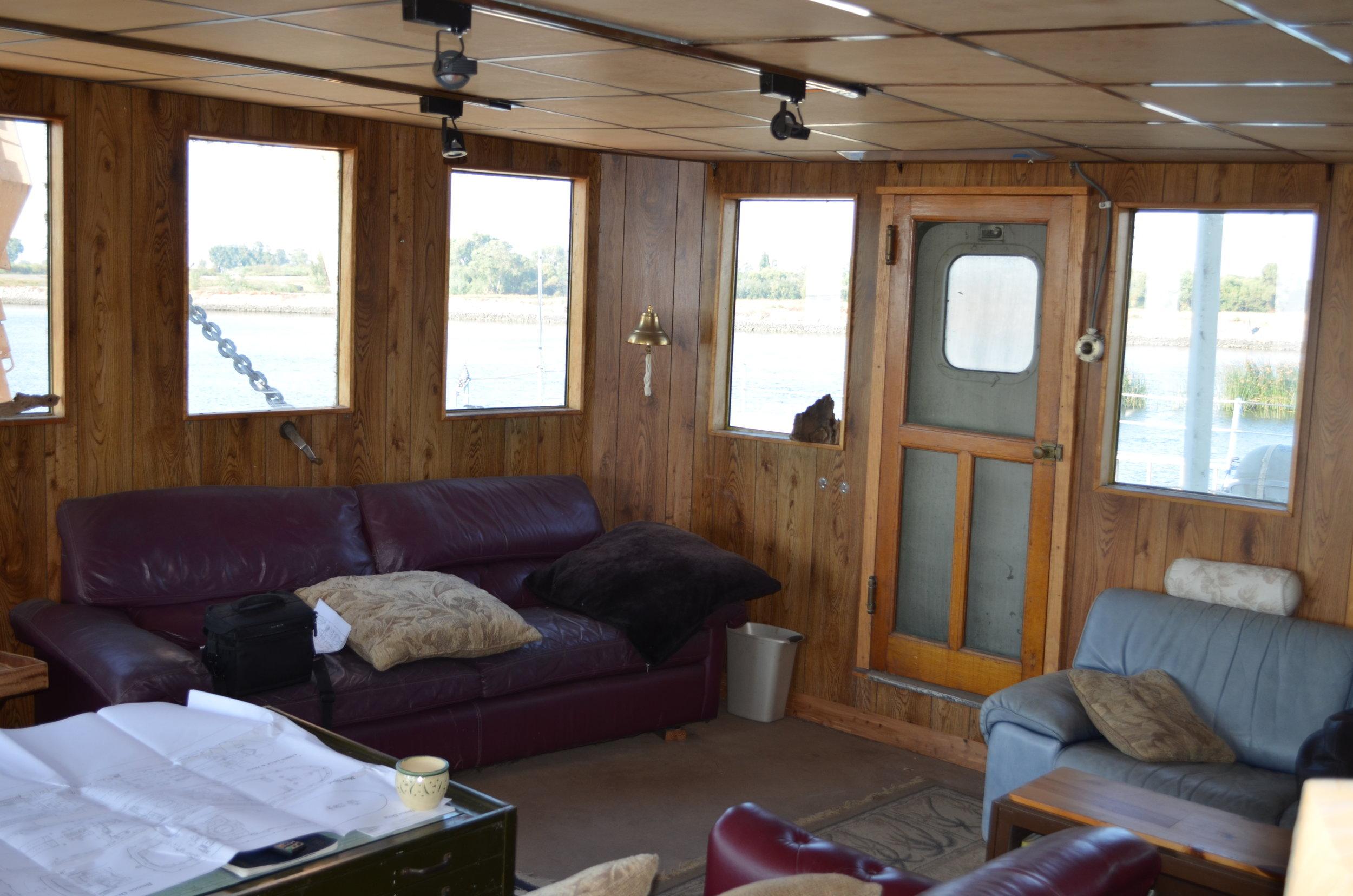 Looking forward. Door opens to starboard deck