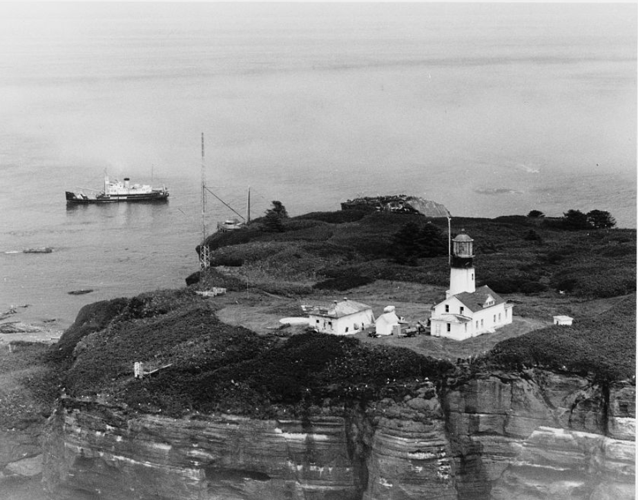 Servicing Cape Flattery Lighthouse on Tatoosh Island at the entrance of the Strait of Juan de Fuca
