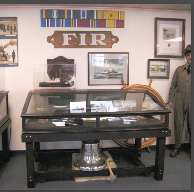 Fir exhibit at the Coast Guard Museum Northwest