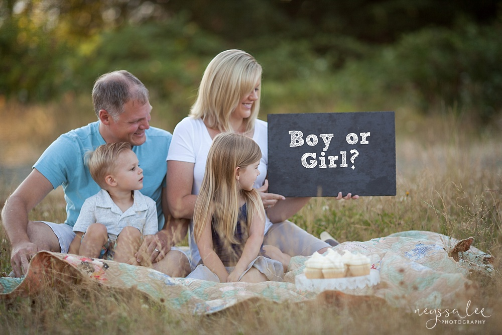 Gender Reveal Photos, family photos, Siblings,