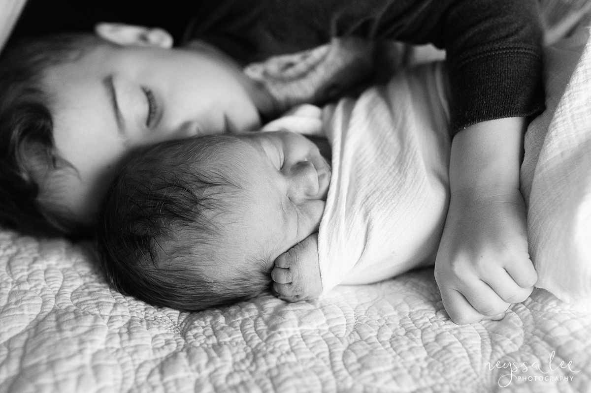 Brother and Sister, newborn baby girl, Snoqualmie Newborn Photographer