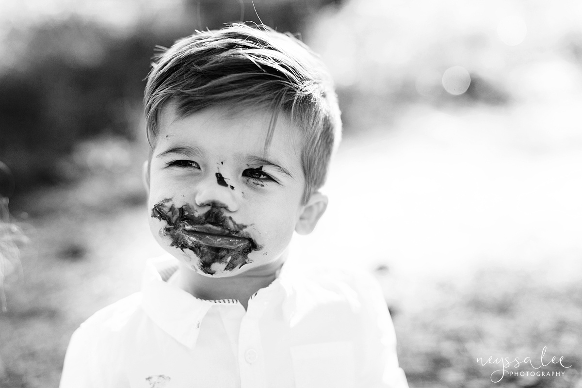 cake smash, turning one, family of 4, Snoqualmie family photographer