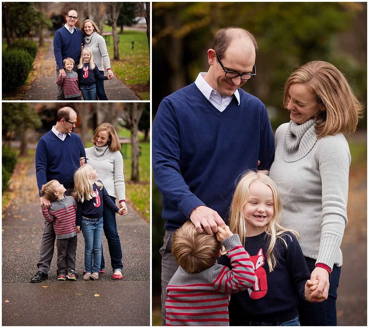 Neyssa Lee Photography Snoqualmie Family Photographer Mini Session, Family of four fall laughing