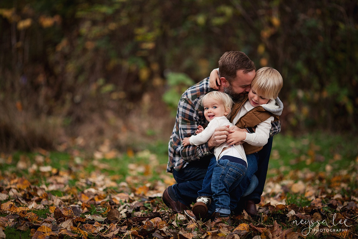 Neyssa Lee Photography, Snoqualmie Family Photographer, Fall Family Photos, Father and sons