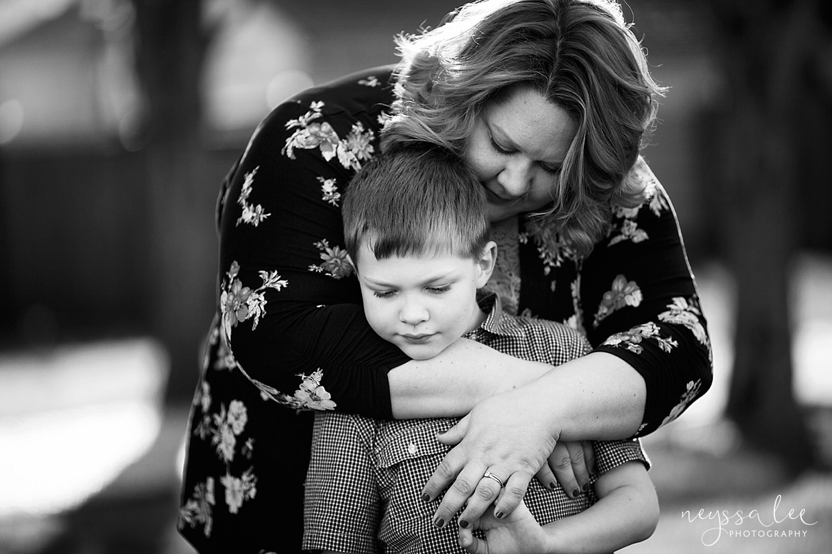 Photos for a 10 year anniversary, Snoqualmie Family Photography, Neyssa Lee Photography, Snoqualmie Train Station, Mother hugs son