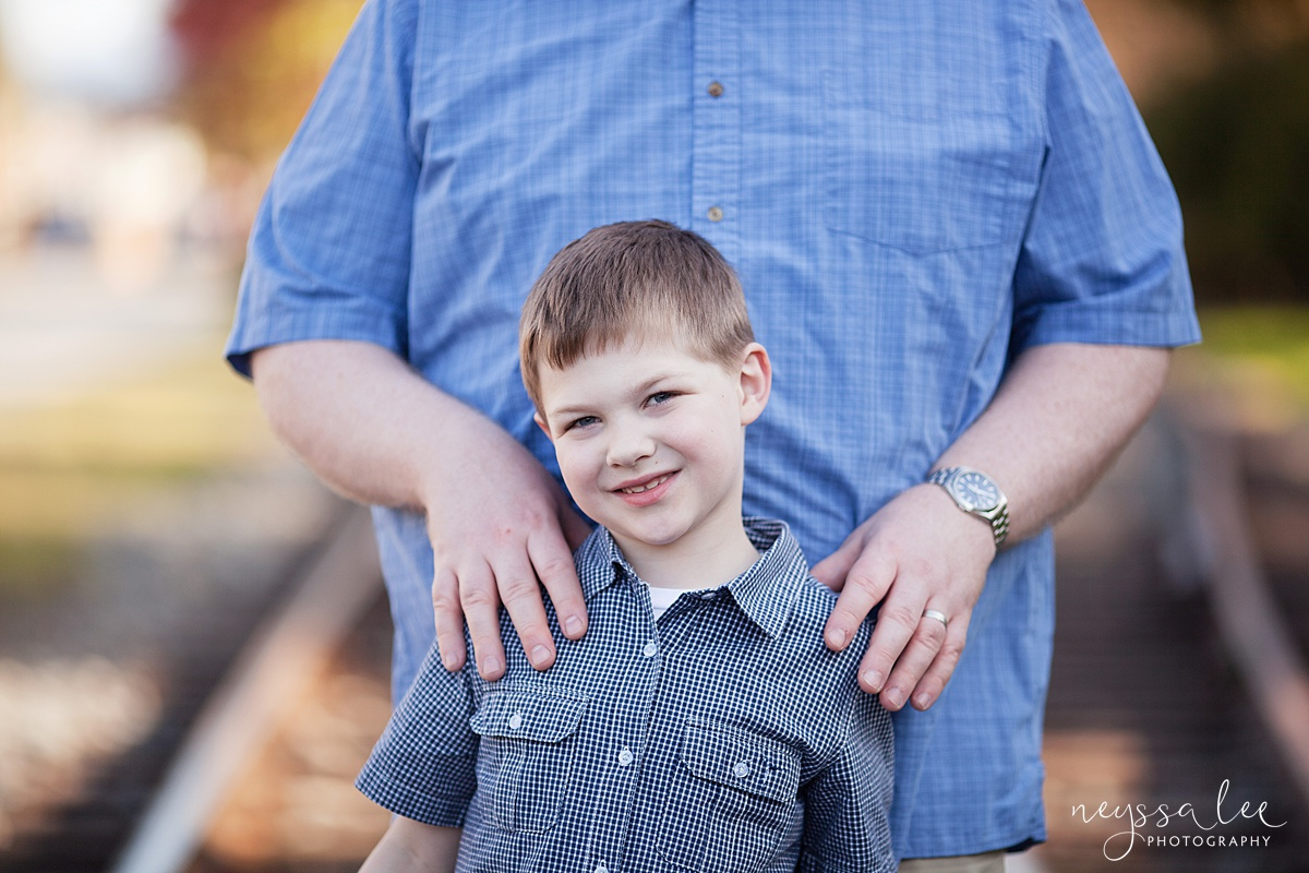 Photos for a 10 year anniversary, Snoqualmie Family Photography, Neyssa Lee Photography, Snoqualmie Train Station, Father and Son