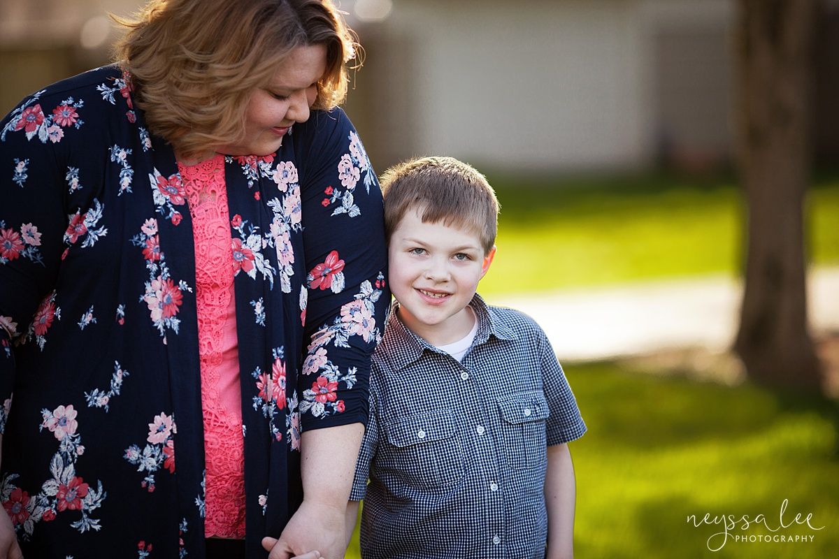 Photos for a 10 year anniversary, Snoqualmie Family Photography, Neyssa Lee Photography, Snoqualmie Train Station, Mother smiles at son