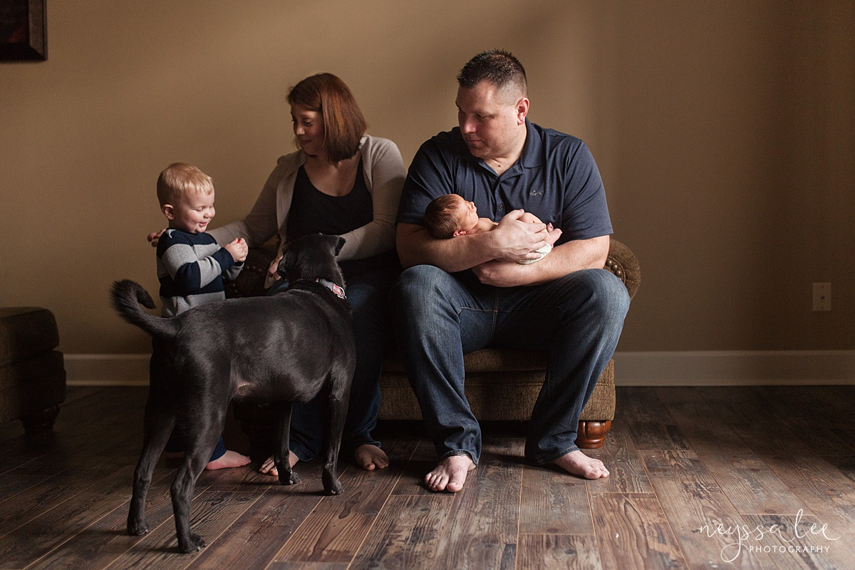 Neyssa Lee Photography, Awake newborn baby boy, lifestyle newborn photography, Seattle newborn photographer,