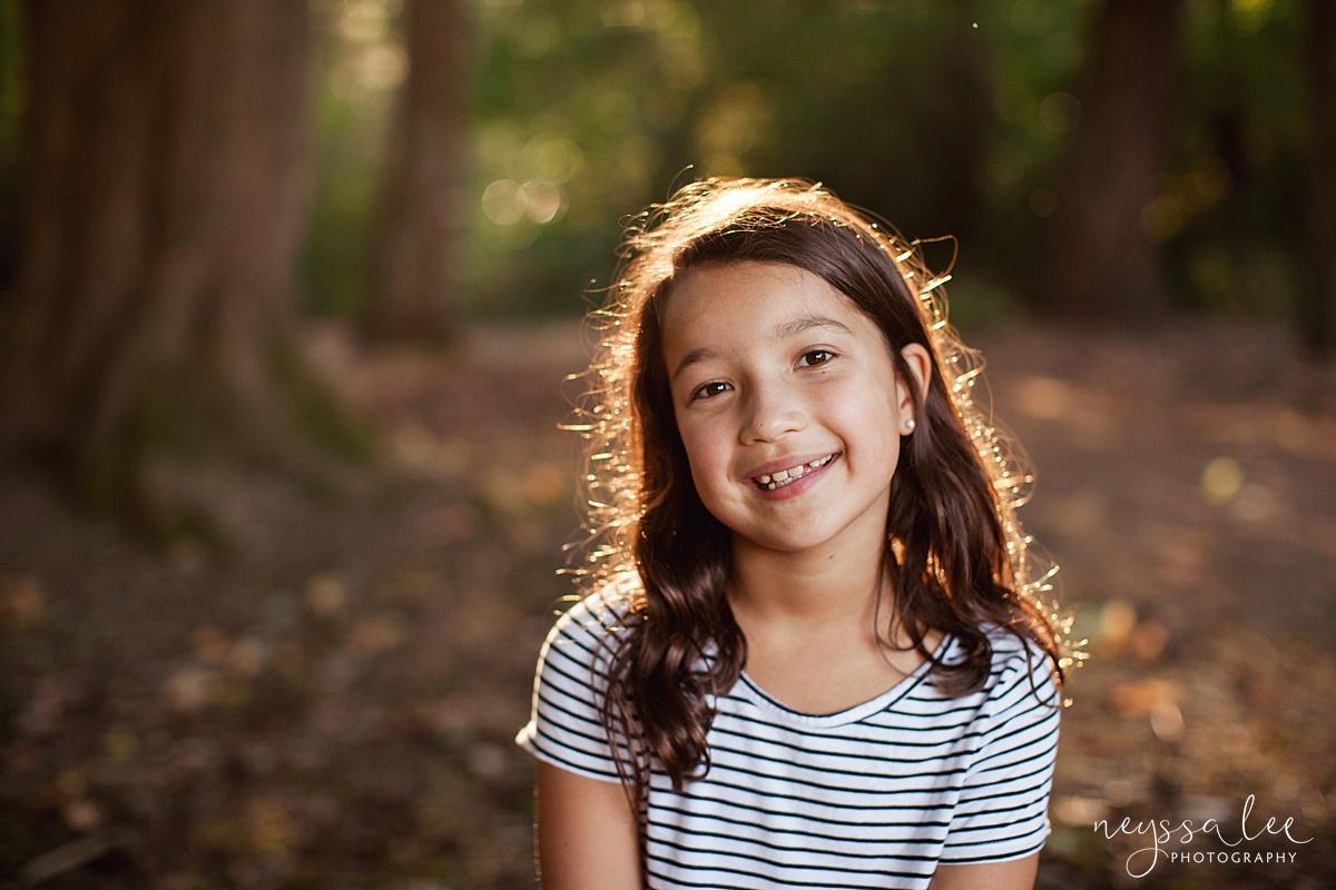 Neyssa Lee Photography, Seattle Family Photography, Family photos in the woods, family photos by the water, portrait