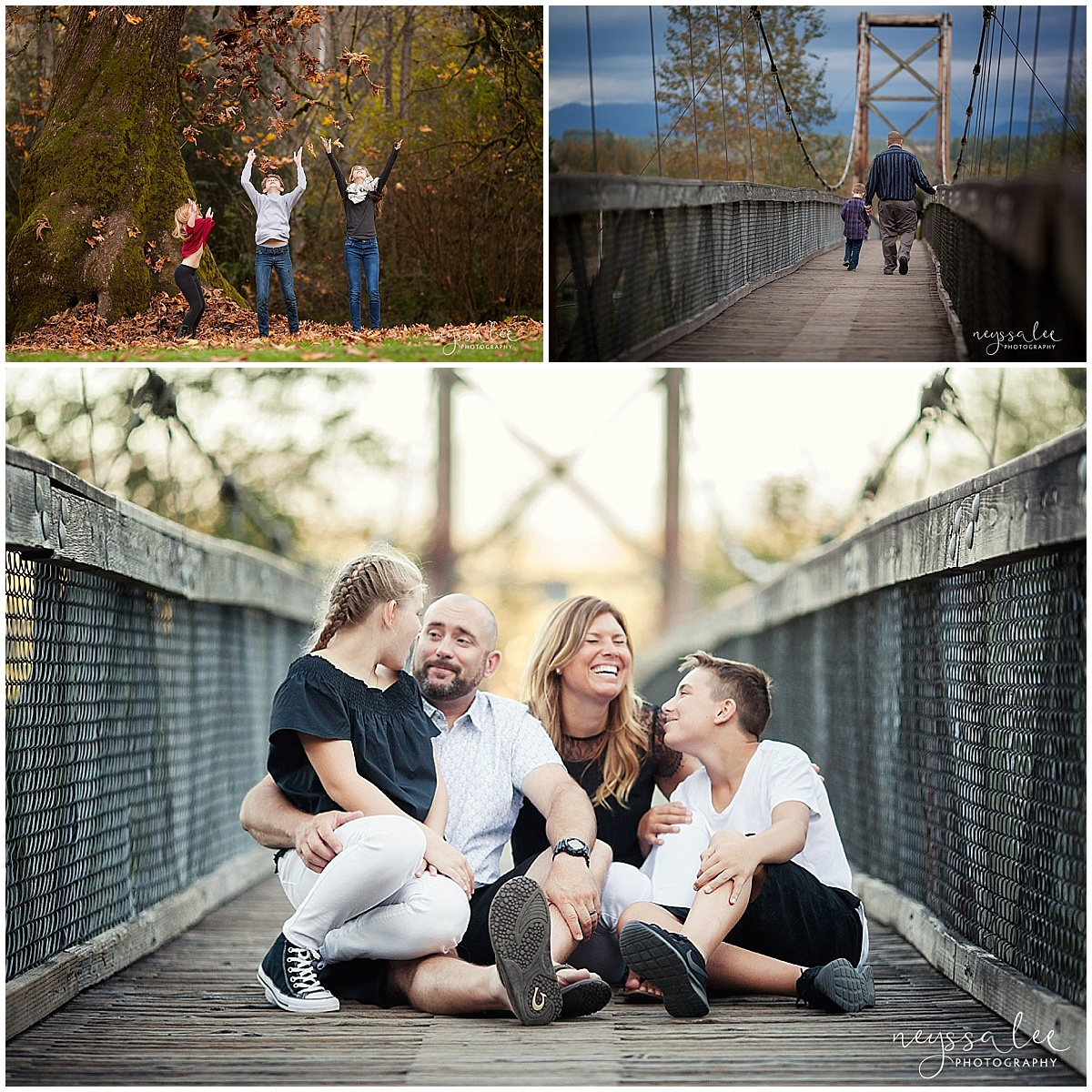 Favorite Locations for Fall Family Photos around Seattle, Neyssa Lee Photography, Snoqualmie Family Photographer, Bridge in Photo
