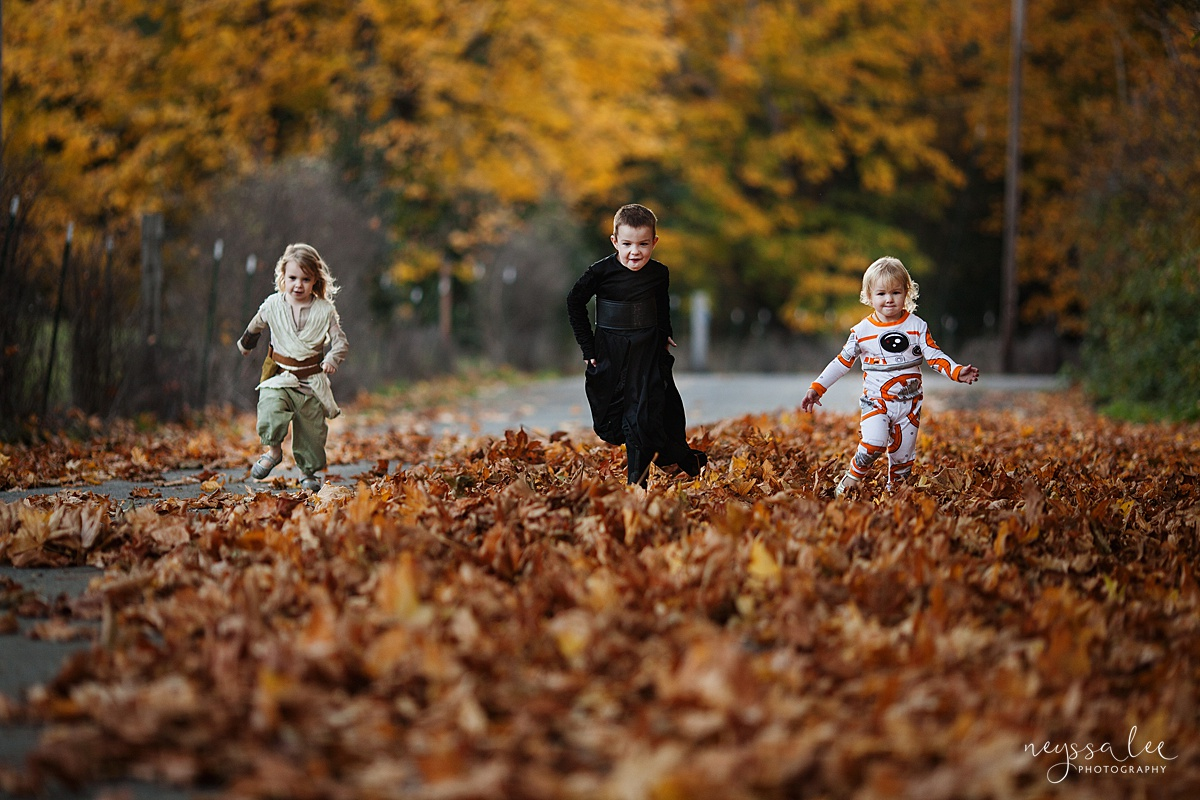 5 Tips for Magical Halloween Photos, Neyssa Lee Photography, Photo Tips, Kids in Star Wars Costume, Family Costume Ideas