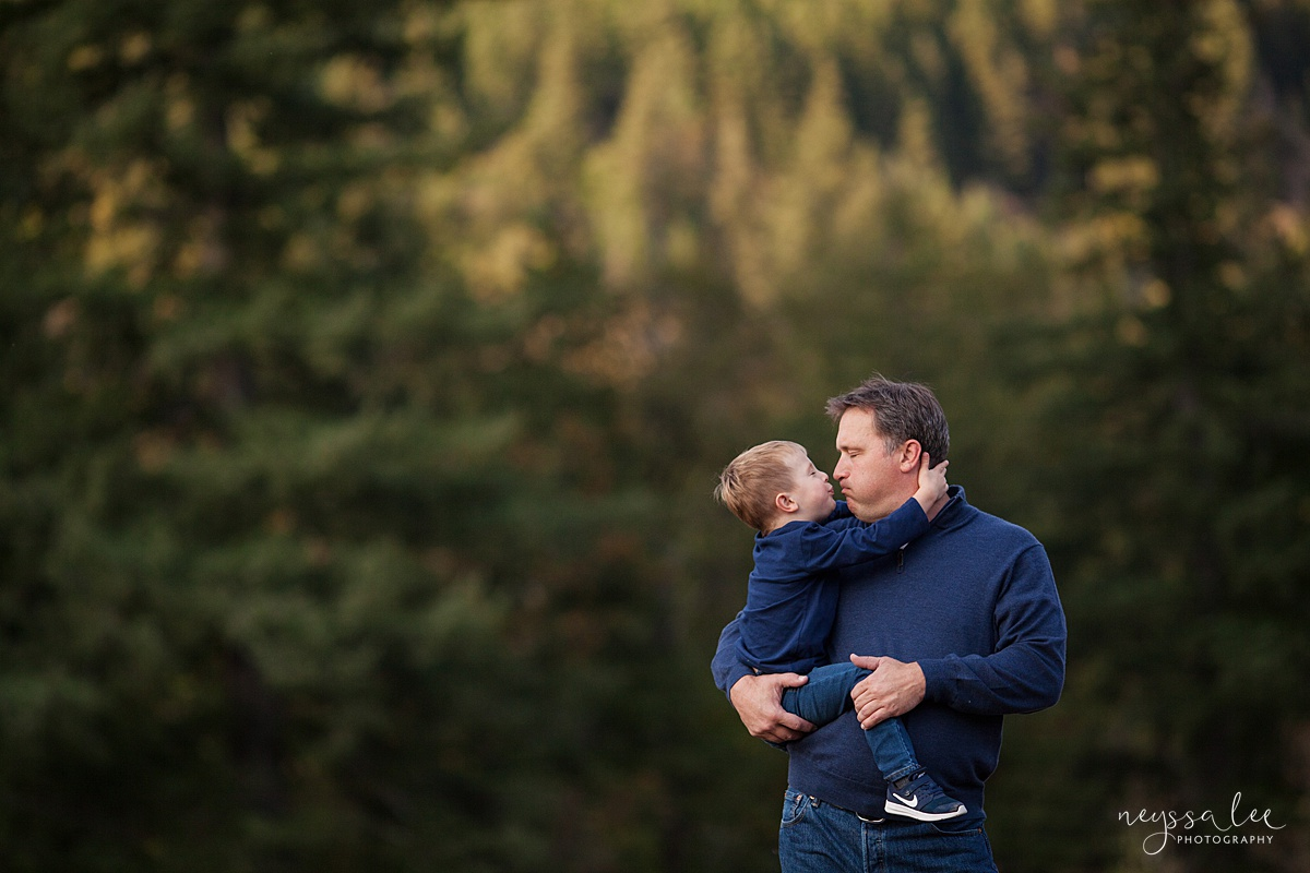 Snoqualmie Family Photographer, Neyssa Lee Photography, Fall Family Photos, Change of perspective on family photos, tender father son moment