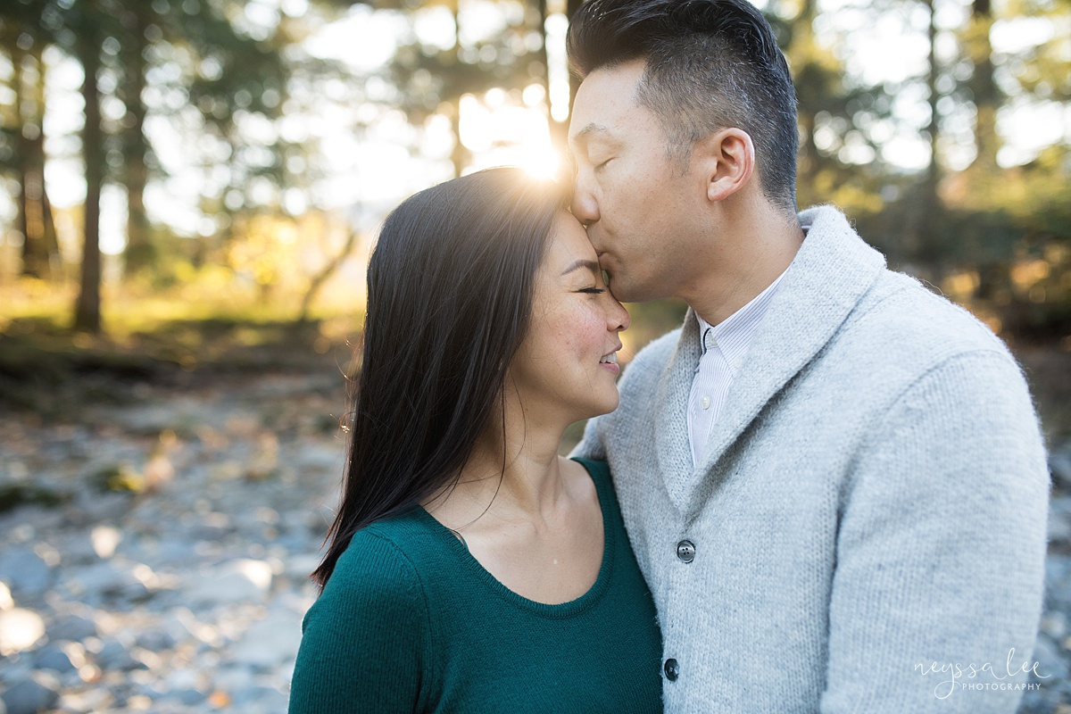 Neyssa Lee Photography, Seattle Lifestyle Family Photographer,  Photo of Mom and dad together in beautiful light