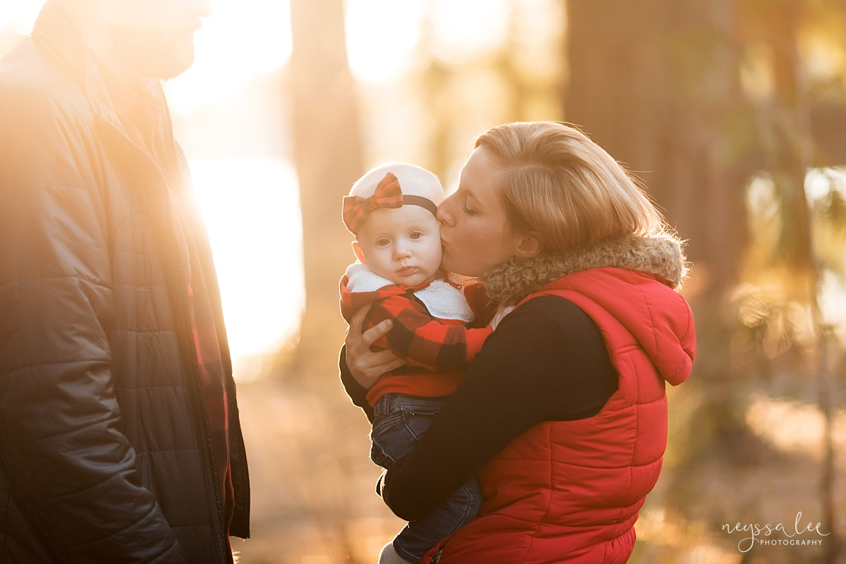 Best Age to Photograph Baby, Neyssa Lee Photography, Seattle Baby Photographer, Photo of Baby girl and mom in beautiful golden light