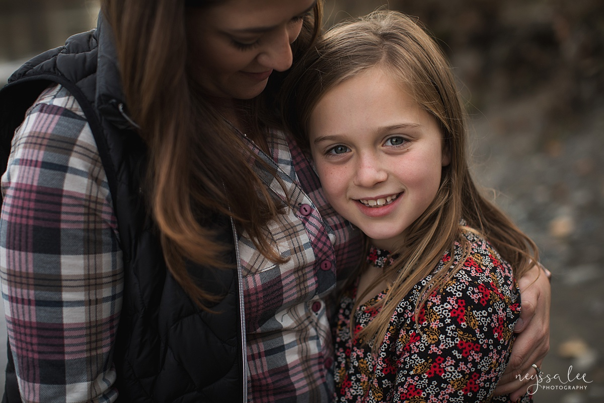 Location for family photos, Neyssa Lee Photography, Seattle Family Photographer, Bellevue Photography, Photo of girl in moms arms