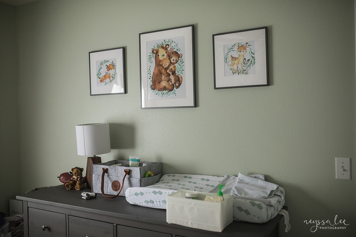 Neyssa Lee Photography, Issaquah Fresh 48 Photographer, Issaquah Newborn Photographer, What is the difference between Fresh 48 and Newborn Session, Photo of nursery details