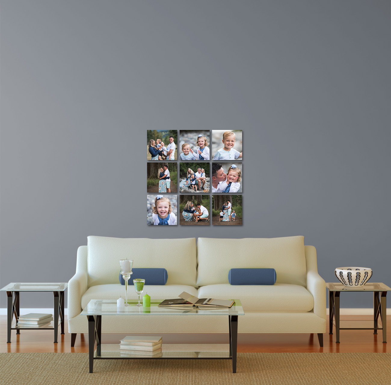 (9) 10x10 Canvas Wrapped Photographs