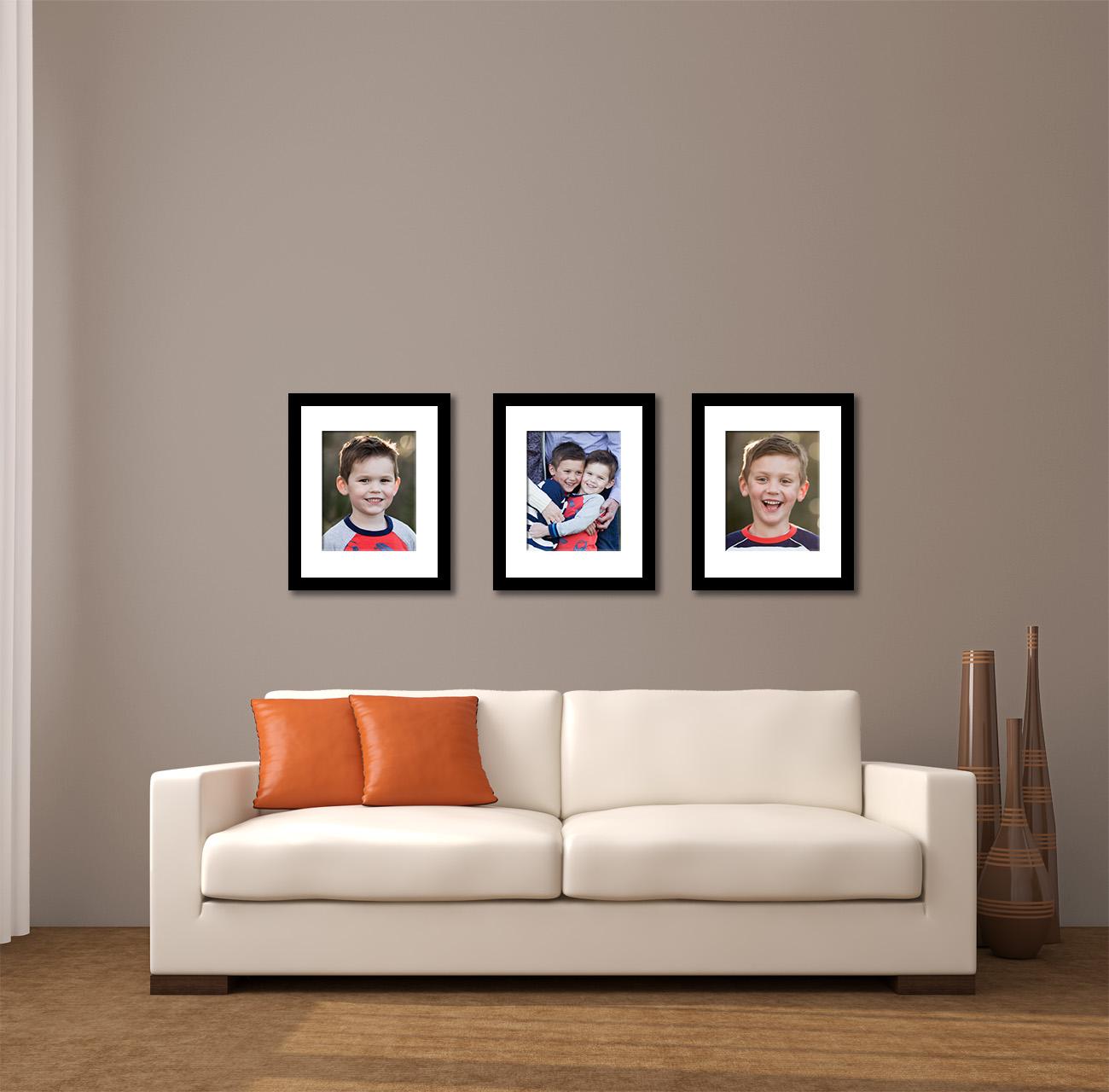 (3) 11x14 prints mounted to 16x20