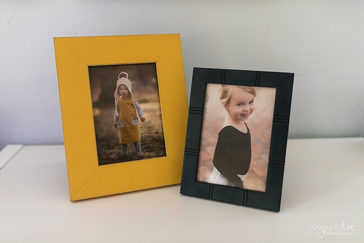 Spice up your prints by selecting a colored frame that matches the print or decor.
