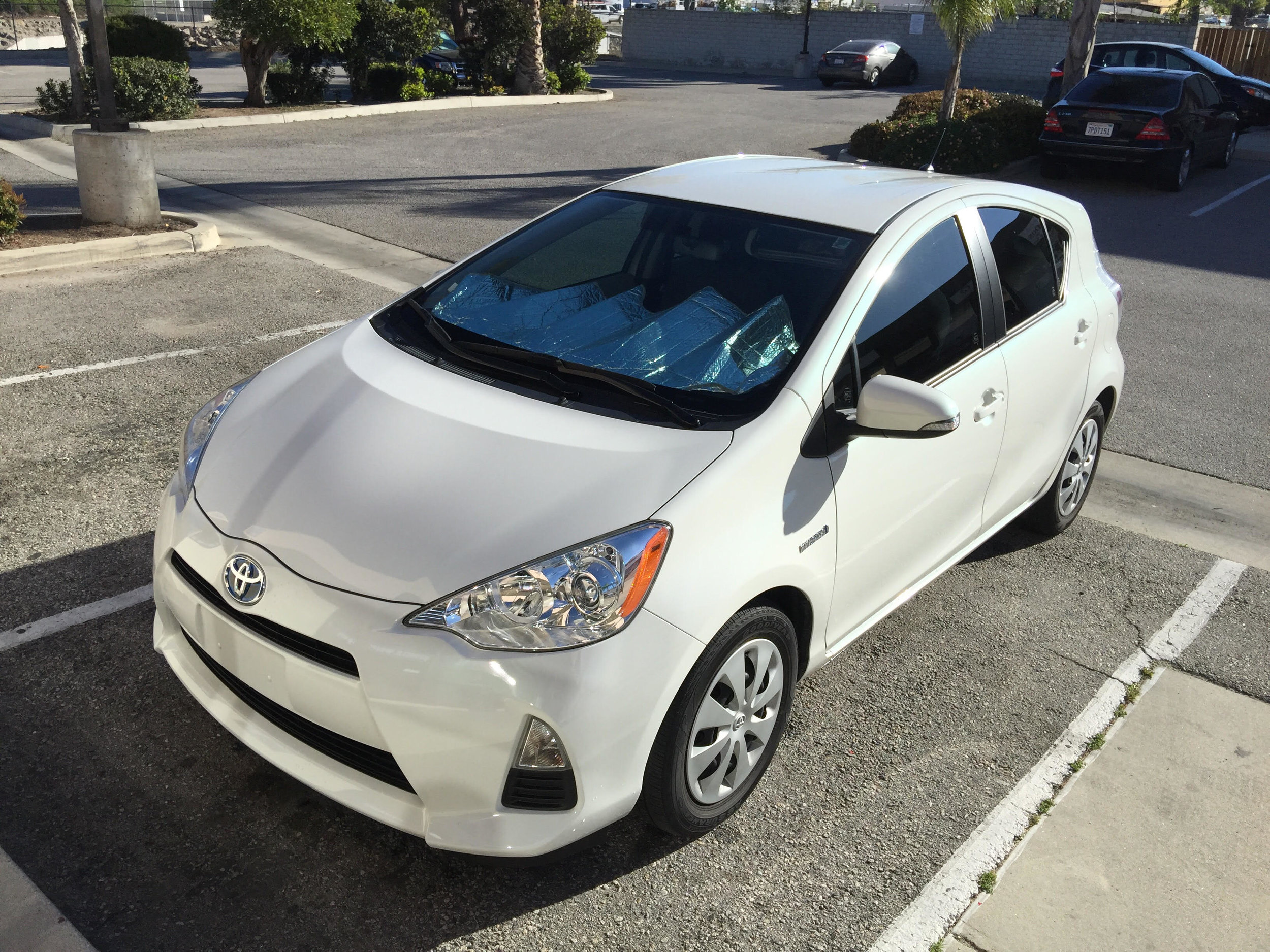 I dropped off my 2013 Prius C last Thursday morning for its makeover.