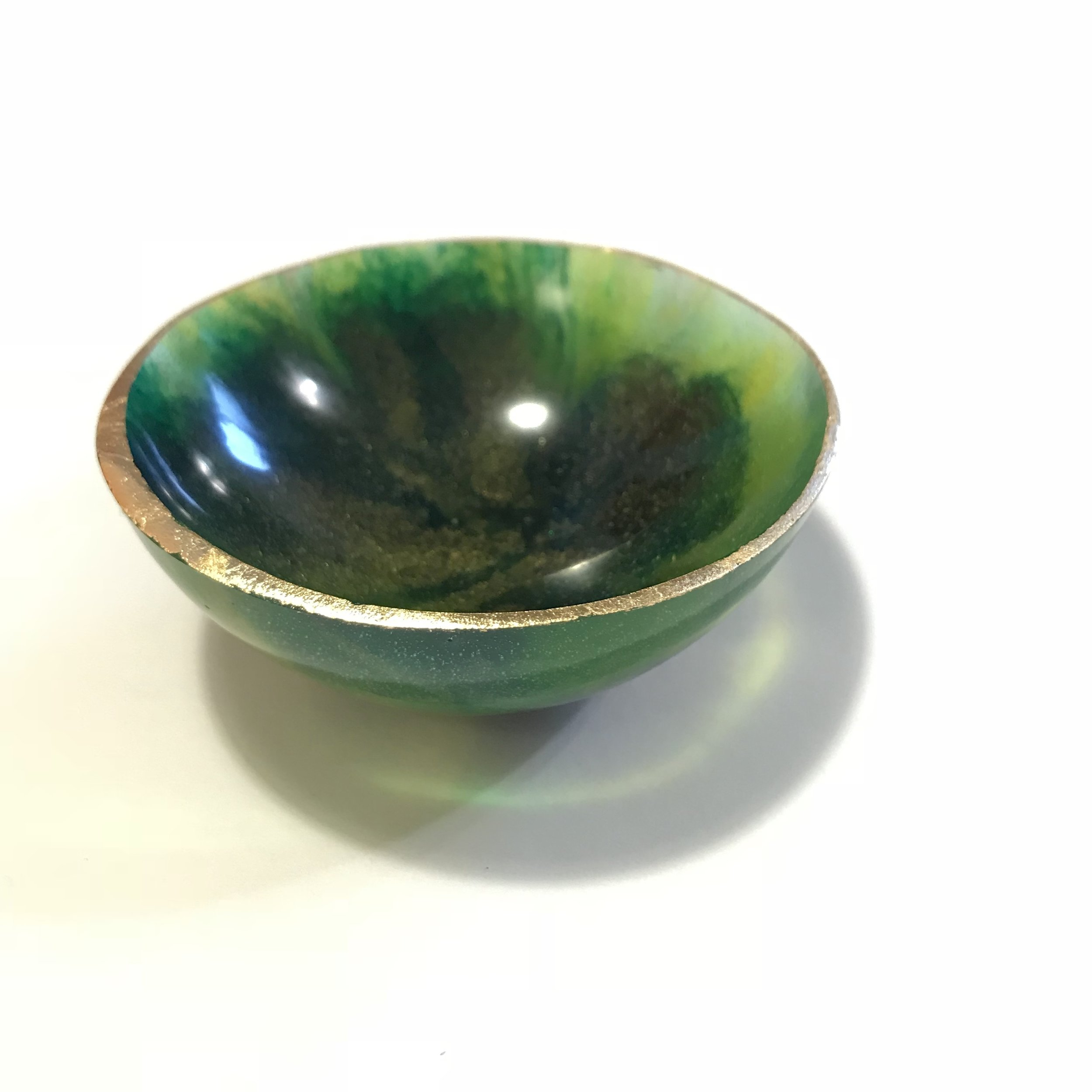 Green and Gold Bowl