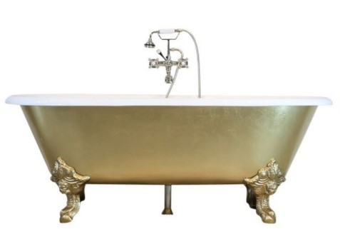 Balmoral Cast Iron Claw-Foot Tub, Gold