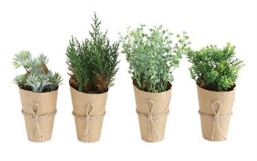 Paper Wrapped Faux Greenery