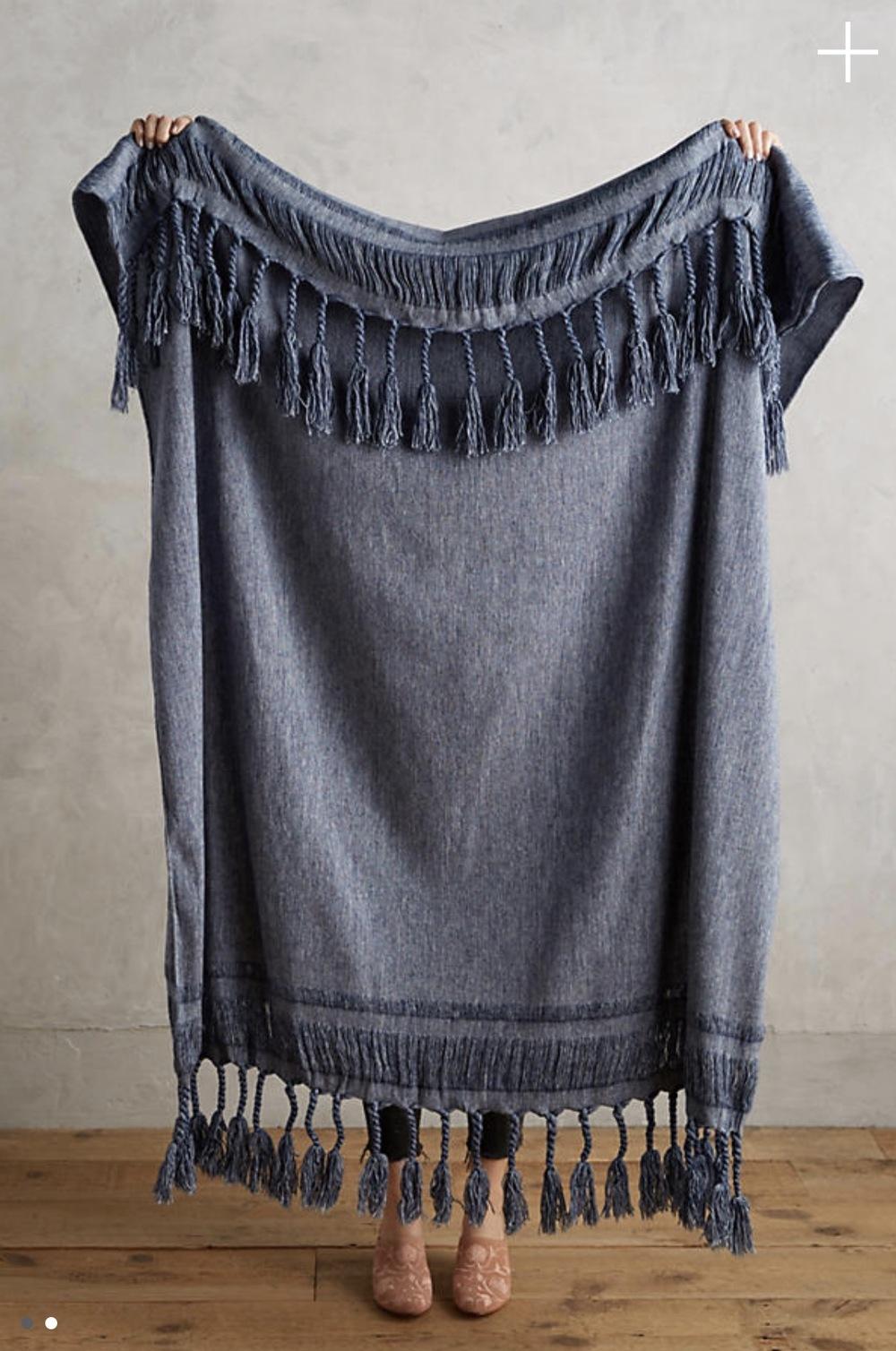 Fringed Rope Throw Blanket